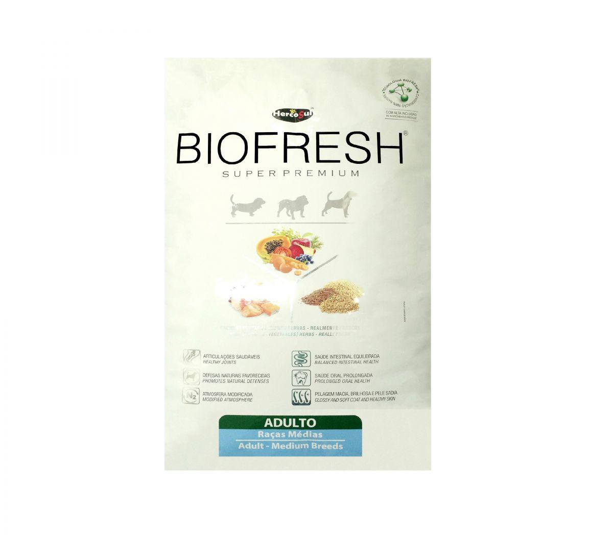 Racao Biofresh Adulto Racas Medias Na Deliveria Pet