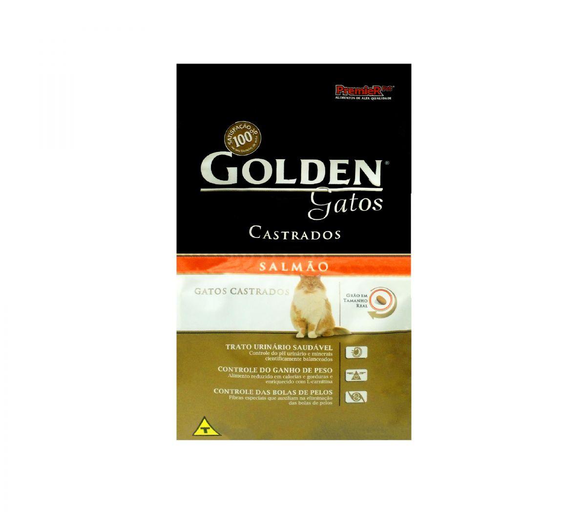 Ração Golden Gatos Castrados Salmão